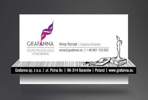 Визитка компании Grafanna